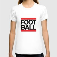 football T-shirts featuring FOOTBALL by Crewe Illustrations