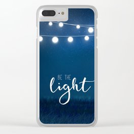 Be the light #3 Clear iPhone Case