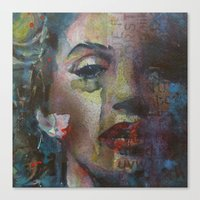 goddess Canvas Prints featuring Goddess by Paul Lovering Watercolors