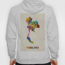 Thailand Watercolor Map Hoody