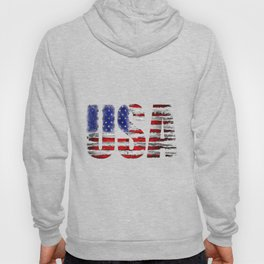 Distressed USA Flag Hoody