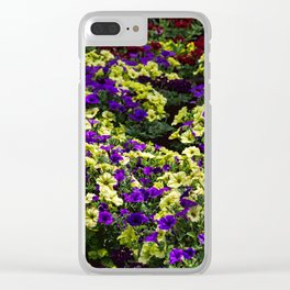 Waves of Petunias Clear iPhone Case