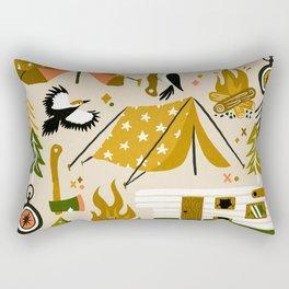 Camping Kit – Olive Palette Rectangular Pillow