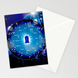 Tardis Horoscopes Stationery Cards