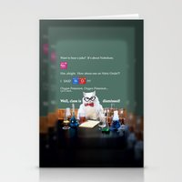 chemistry Stationery Cards featuring Chemistry Cat by Intercessor