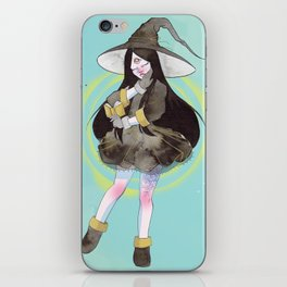 The witch with a spell book iPhone Skin