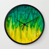 iggy Wall Clocks featuring BGY Iggy by Paper Rescue Designs