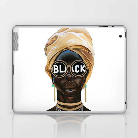 Black Woman Laptop & iPad Skin