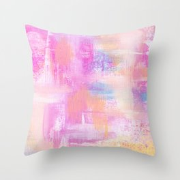 Colorful Abstract Acrylic Throw Pillow