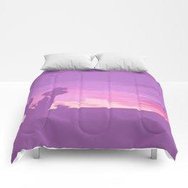 Lavender Joshua Sunset - Pop_Art Comforters