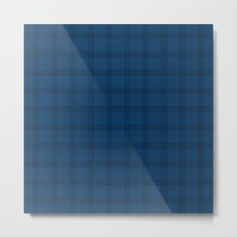 Black Grid on Dark Blue Metal Print