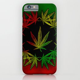 Rasta Leaf iPhone Case