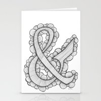 ampersand Stationery Cards featuring Ampersand by Laura Maxwell