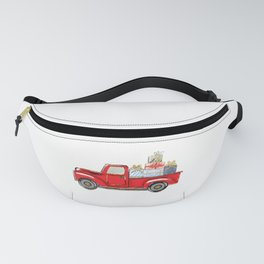 Christmas Harvest Truck, Gift, Birthday, Happy, Jesus, Santa claus, Red, Green, Toys, Doll, Magic Fanny Pack