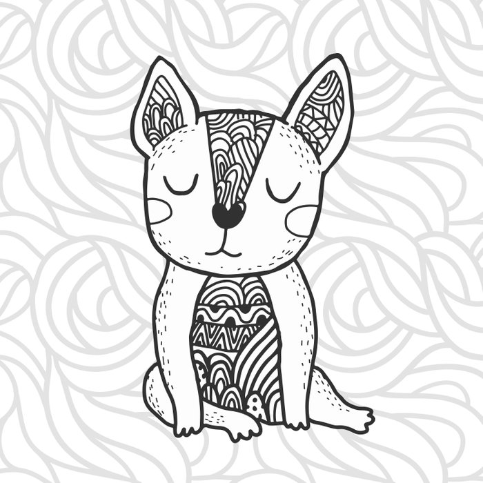 doodle french bulldog Comforters