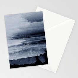 Abstract black painting 2 Stationery Cards