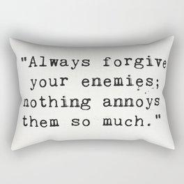 Oscar Wilde quote about enemies Rectangular Pillow