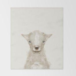 little lamb Throw Blanket