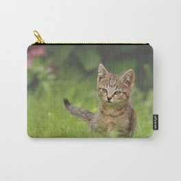 Little Tiger in Gras Carry-All Pouch