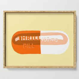 Thrill Pill Yellow Serving Tray