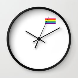Gay Pride LGBT Rainbow Stripe Flag 2018 Awareness Wall Clock