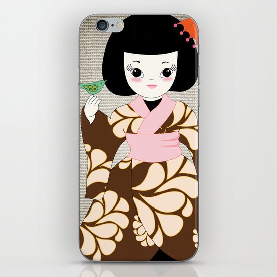 Madame Butterfly iPhone Skin