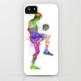 man soccer football player iPhone Case
