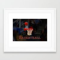 basketball Framed Art Prints featuring Basketball by LoRo  Art & Pictures