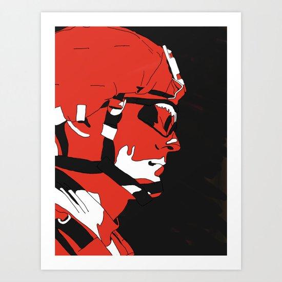 Red soldier Art Print