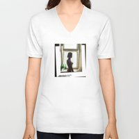 window V-neck T-shirts featuring window by xp4nder