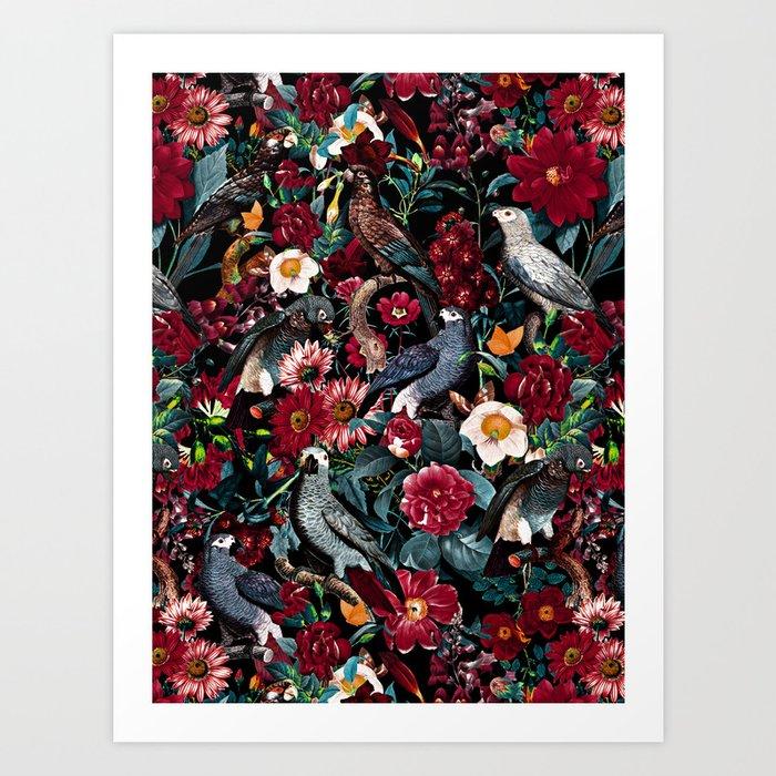 FLORAL AND BIRDS XX Art Print