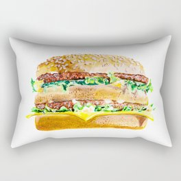 BigMac Burger Rectangular Pillow
