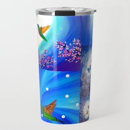 Blue designs Travel Mug