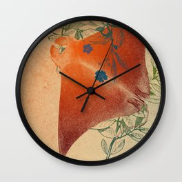 Stingray in The Weeds Wall Clock