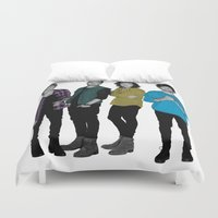 one direction Duvet Covers featuring One Direction: Four by Haus Of Lodge