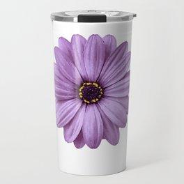 Beautiful Purple Flower Travel Mug