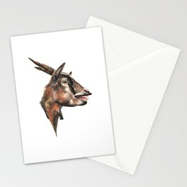 Salivating Goat Stationery Cards