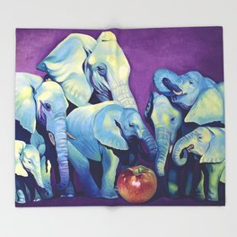 Elephat's Soccer Throw Blanket