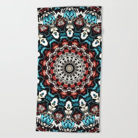 Abstract Shapes Mandala Beach Towel