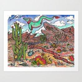 Parallel Deserts III Art Print