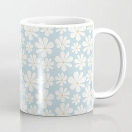 Floral Daisy Pattern - Blue Coffee Mug