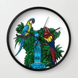 Parrot Funny Tropical Bird Cool Jungle Animal Gift Wall Clock
