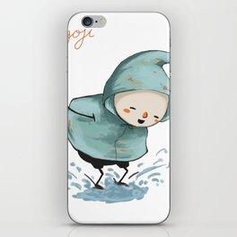 Goji welcomes the rain! iPhone Skin