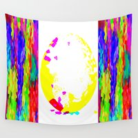 easter Wall Tapestries featuring Easter Egg by Latidra Washington
