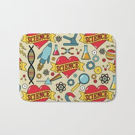Scientific Tattoos Bath Mat