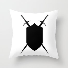 Crossed Swords Silhouette Throw Pillow