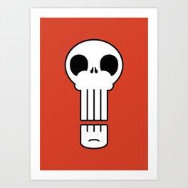 Long Skull Art Print