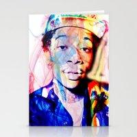 wiz khalifa Stationery Cards featuring wiz khalifa by Nic Moore