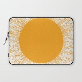 Large Sun Art Print | Abstract Sun Wall Art | Sun Rays Circle Print | Mid Century Modern Poster | ye Laptop Sleeve