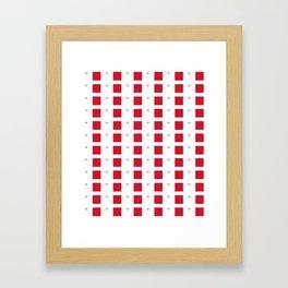 flag of Malta-maltese,maltes,malti,valletta,birkirkara,mosta,Gozo,mediterranenan Framed Art Print